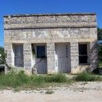 Old Bank Building - Along Rt.83 = Roadside Texas
