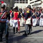 Santa Anna with aides