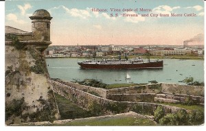 SS Havana, viewed from Moro Castle, Cuba