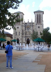 Main Plaza today, with San Fernando Cathedral