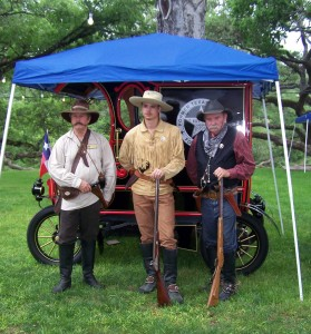 Reenactor Rangers - Ranger on the left is dressed as Ad Gillespie would have been