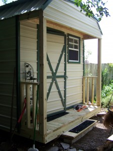 Completed shed with step ... and now to do all the other stuff...