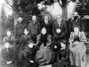 Dona Vincenta and her family in the 1890s (She is the elder lady in the center)