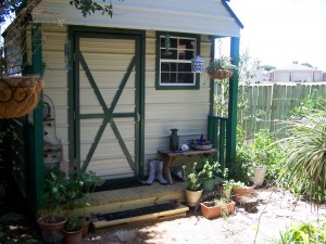 Painted and landscaped, with fresh gravel - The Glorious Shed!