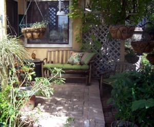The personal back porch refuge