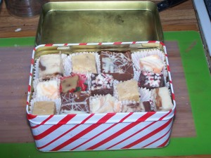 Finished Fudge - Packaged in Tin