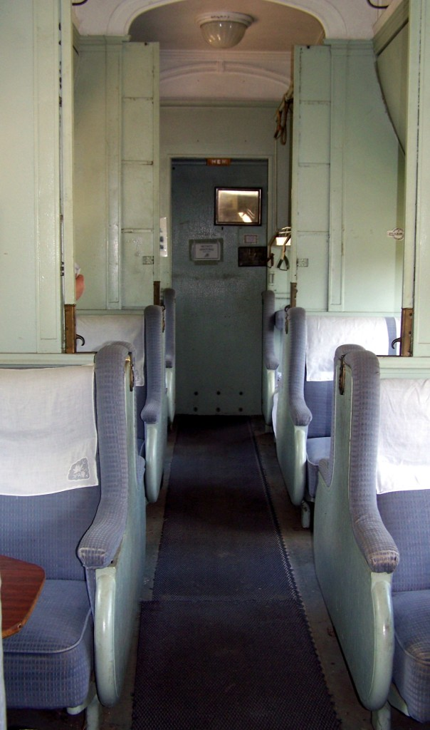 A sample Pullman car - in the Texas Transport Museum