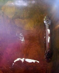 Door Handle and Detail of Veneer - Before Renow