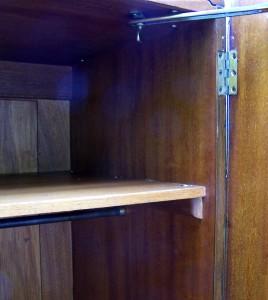 Interior with single shelf