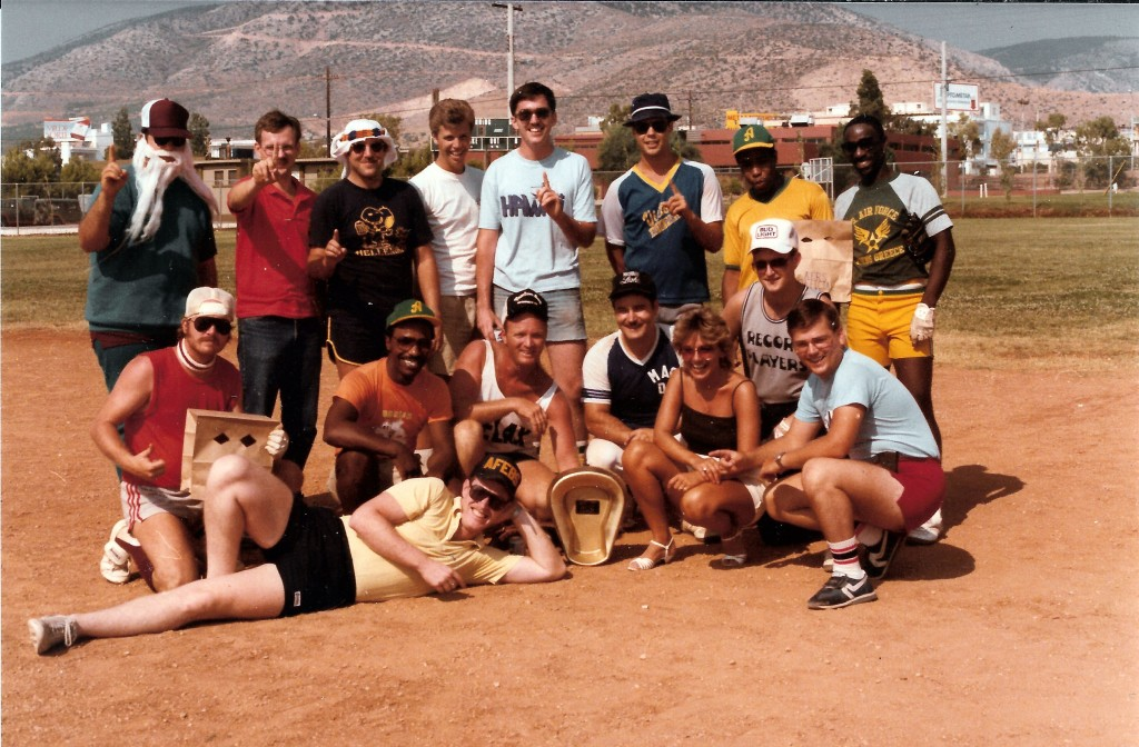 The winning AFRS Championship Team in the Gold Cup Invitational Softball Game