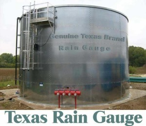 Texas Sized Rain Gauge