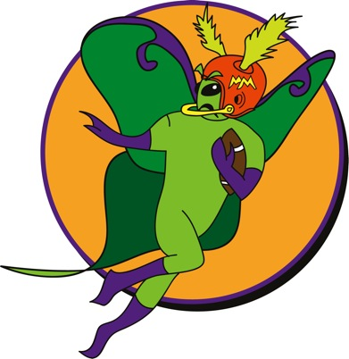 Mighty Moth Mascot Image