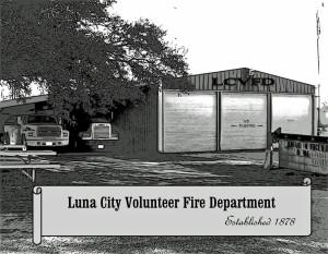 The Luna City Volunteer Fire Department building