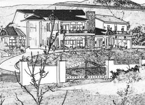The palatial home of  Clovis and Sook Walcott